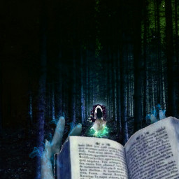 runninggirl surrealistic witchyvibes books heypicsart woods intotheforest challenge challengeoftheday magiceffects pirasisproyo freetoedit srcsparklybutterflies sparklybutterflies