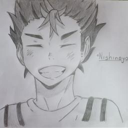 nishinoya nishinoyayuu haikyuu anime draw