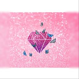 picsart fotoedit diamond butterfly butterflyeffect pink selfmade freetoedit