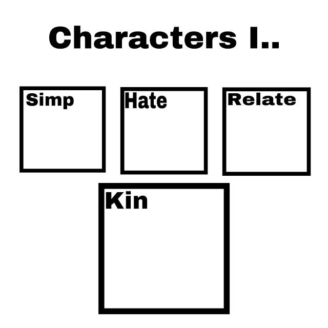 FILL IT IN ❤️❤️❤️❤️ #charcters #hate #kin #fandom #anime #fillitin #diy #chactersihate