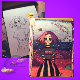 freetoedit interesting art draw cosmic cosmicgirl