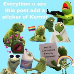 freetoedit kermit kermitthefrog kermitisking muppets kermitstickers