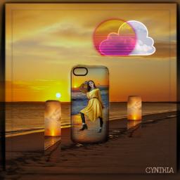 beach cloud sun model ocean colorful editbyme stepbystep freetoedit eccottonclouds2021 cottonclouds2021