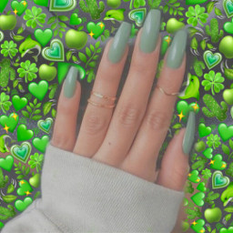 aesthetic tumblr nails green verde greennails unhas