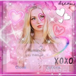 freetoedit dovecameron collab pink