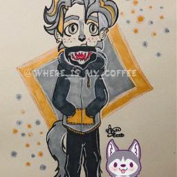 freetoedit art interesting wolf wolfboy drawing draw boy cuteart cuteboy