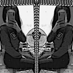 distortion selfposrtrait