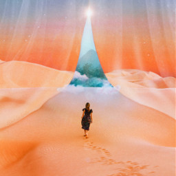 dreamy desert magic surrealart madebyme curtains starrysky