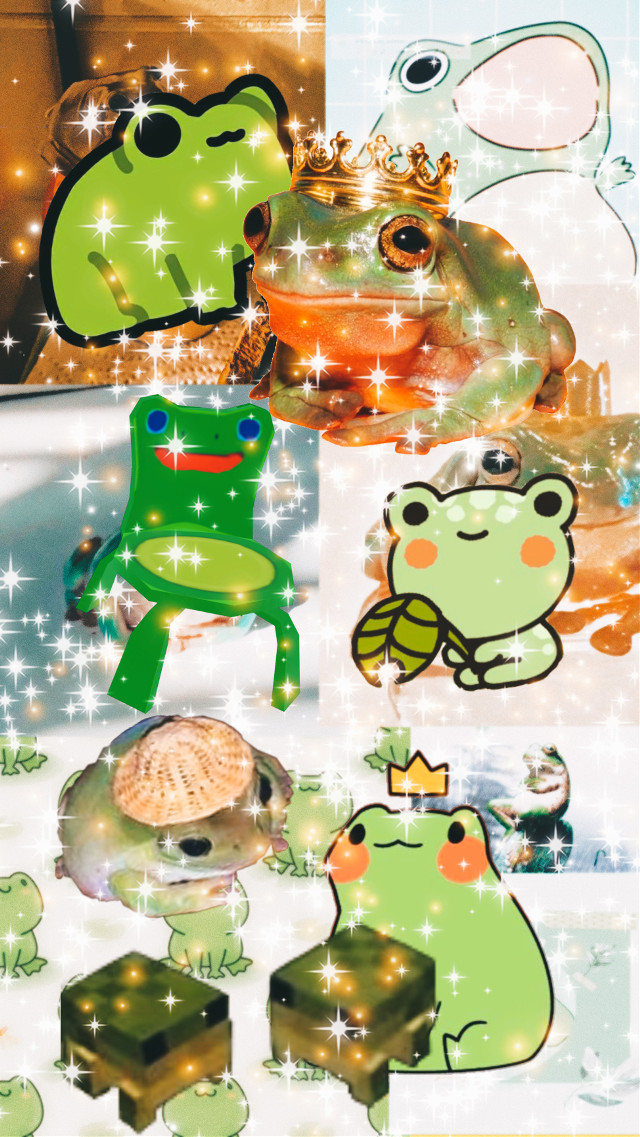 I love frogs, you love frogs, i think we all love frogs #frogsarethebest #froggy #frog #lovefrog #lovefrogs #froggychair #sparkles #green #saturation #frogs #frogwallpaper #frogcollage #cutefrogs #phrog #froggie