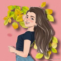 pink smile girl jeans summer freetoedit