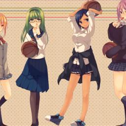girls female kurokonobasket femalekurokonobasket kurokonobasketanime anime lol
