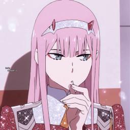 anime animeaesthetic animeglitteredit animeglittericon animeicon icon weeb darlinginthefranxx 02 zerotw ditfxx