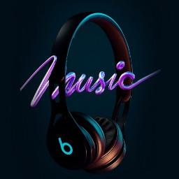 music headphone blue background wallpaper be_creative freetoedit