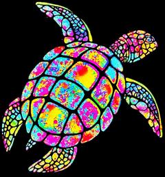 tortule turtle turttles tortuga tortugas neon animalesmarinos tortugamarima freetoedit