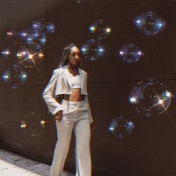 freetoedit bubble bubbles girl lights heypicsart