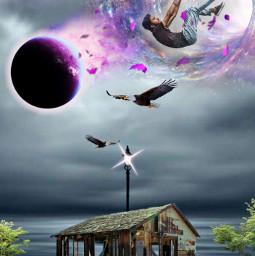 desafio challenge caindo buraconegro fantasia ruinas cabana pink planet freetoedit ircelevating elevating