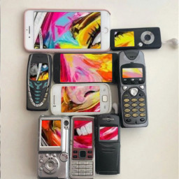 freetoedit face colorful cellphone vintage srcvintagephones vintagephones