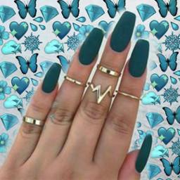 aesthetic tumblr darkteal verdeaguaescuro nails unhas unhasverdeaguaescuras darktealnails
