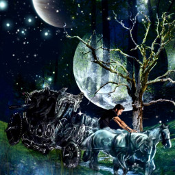 freetoedit surrealism night horses picsartchallenge ircelevating elevating