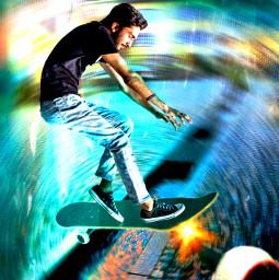 freetoedit skater picsartchallenge ircelevating elevating