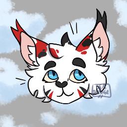 originalart digitalart notmyoc cat feline stripes spots clouds