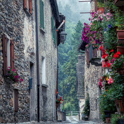 freetoedit photography travel holidays mountain italy road street walls flowers
