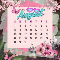 freetoedit augustcalendar august sakura
