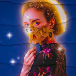 freetoedit woman women remixit picsart picsartbrasil brilhos estrelas papel