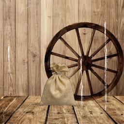 rustic wagonwheel wood sack bokeh freetoedit irctinysack tinysack