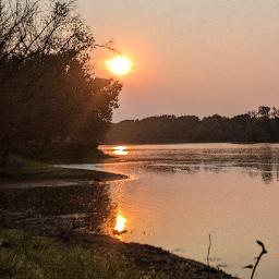 sunrise river morning