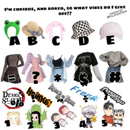 freetoedit lol vibes whatvibesdoigiveoff aesthetic anime clothes hats