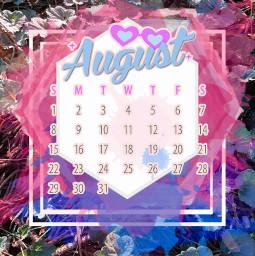 freetoedit august picsartchallenge august2021calender pink splash