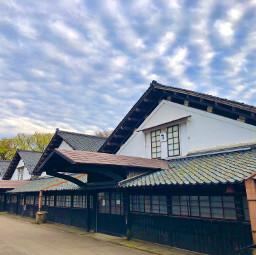 sky clouds sakata tōhoku japan architecture 東北 酒田市 warehouse retro pcoutside outside