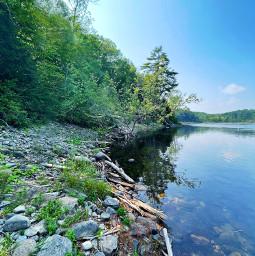 freetoedit river nature explore hiking naturephotography landscape summer outside forest trees