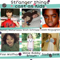 strangerthingscast strangerthings kids strangerthingscastaskids