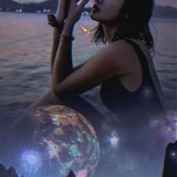 girl woman planeta meteoros remixit remix freetoedit picsart picsartbrasil