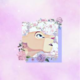 freetoedit remixit disney animash thelionking nala lioness pink rosa purple morado aesthetic pinkaesthetic purpleaesthetic angelgirl flowers flores phonewallpaper fondodepantalla