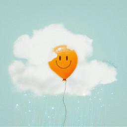 ircyolkandwhite yolkandwhite madewithpicsart egg clouds simple rain balloon
