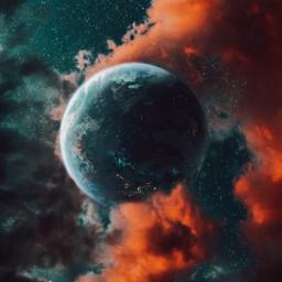 moon sky planet stars night be_creative freetoedit
