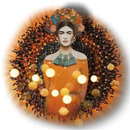 orangeaesthetic fridakahlo unibrow_queen art freetoedit