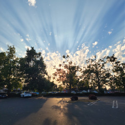 dramatic sky clouds light shadows evening parkinglot unedited freetoedit