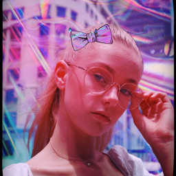 heypicsart makeawesome picsart model girl holographic background colours bow love share save remixit ❤️❤️❤️ freetoedit