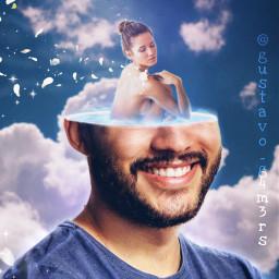 bathtub shower head hole sky wind abstract freetoedit