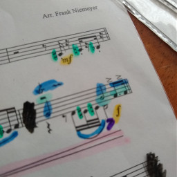 music colorful notes