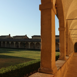 freetoedit myphotography sunrise oldarchitecture cloister chartehouse 14thcentury tuscany