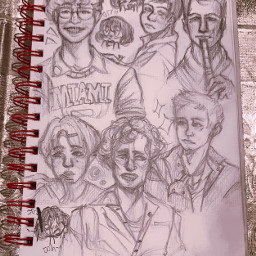 prettyboys sketch sketchbook blushingrn hehe