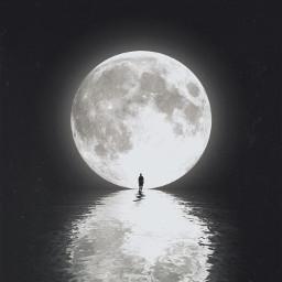 moon moonlight man surreal
