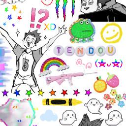 freetoedit tendousatori tendou haikyuu anime