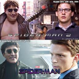 freetoedit spiderman spiderman2 tobeymaguire peterparker spidermanmcu spidermannowayhome tomholland marvelcomics marvelstudios marvelcinamaticuniverse ottooctavius docock doctoroctopus alfredmolina