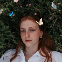 butterfly woman beauty idk freetoedit